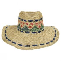 Crochet Pattern Raffia Straw Fedora Hat alternate view 2