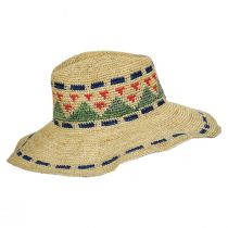 Crochet Pattern Raffia Straw Fedora Hat alternate view 3