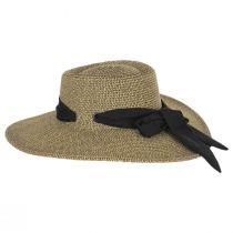 Ultrabraid Scarf Bow Toyo Straw Blend Boater Hat alternate view 3