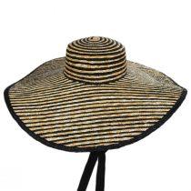 Horizontal Stripe Oversized Wheat Straw Sun Hat alternate view 2