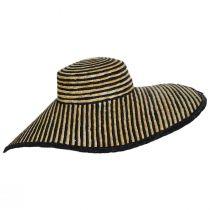 Horizontal Stripe Oversized Wheat Straw Sun Hat alternate view 3