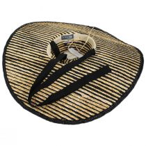 Horizontal Stripe Oversized Wheat Straw Sun Hat alternate view 4