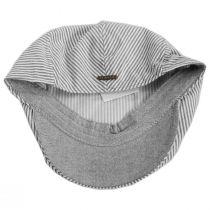 Striper Seersucker Cotton Ivy Cap in