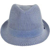Blues Seersucker Cotton Fedora Hat alternate view 2