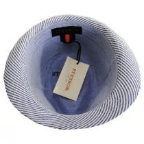 Blues Seersucker Cotton Fedora Hat alternate view 4