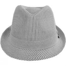 Blues Seersucker Cotton Fedora Hat alternate view 6