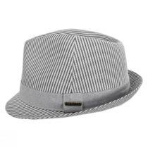 Blues Seersucker Cotton Fedora Hat alternate view 15