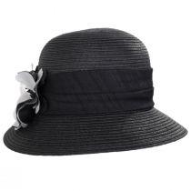 Poppy Toyo Straw Cloche Hat alternate view 2