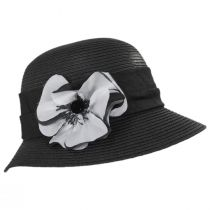 Poppy Toyo Straw Cloche Hat alternate view 3