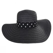 Valena Polka Dot Band Toyo Straw Swinger Sun Hat alternate view 6