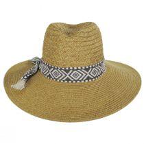 Florentino Toyo Straw Blend Safari Fedora Hat alternate view 2