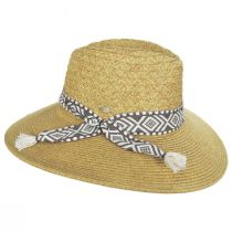 Florentino Toyo Straw Blend Safari Fedora Hat alternate view 3