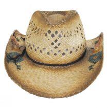San Minato Raffia Straw Western Hat alternate view 2