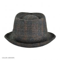 Plaid C-Crown Fedora Hat