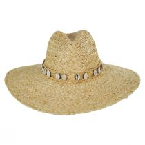 Via Davini Raffia Straw Wide Brim Fedora Hat alternate view 2