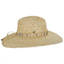 Via Davini Raffia Straw Wide Brim Fedora Hat alternate view 3