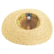 Via Davini Raffia Straw Wide Brim Fedora Hat alternate view 4