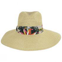 Bryah Toyo Straw Wide Brim Safari Fedora Hat alternate view 2