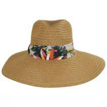 Bryah Toyo Straw Wide Brim Safari Fedora Hat alternate view 6
