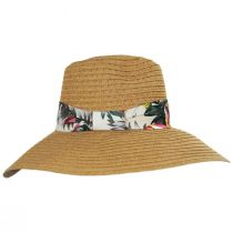 Bryah Toyo Straw Wide Brim Safari Fedora Hat alternate view 7