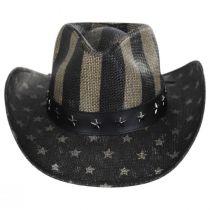 USA Flag Toyo Straw Western Hat alternate view 2