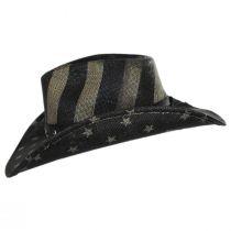 USA Flag Toyo Straw Western Hat alternate view 3