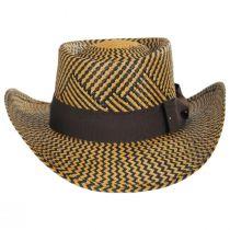Two-Tone Toyo Straw Gambler Hat alternate view 2