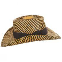 Two-Tone Toyo Straw Gambler Hat alternate view 3