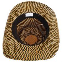 Two-Tone Toyo Straw Gambler Hat alternate view 4