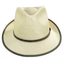 Hopper Shantung Straw Fedora Hat alternate view 2