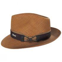 Cassatt Reversible Band Grade 8 Panama Straw Fedora Hat alternate view 3