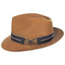 Cassatt Reversible Band Grade 8 Panama Straw Fedora Hat alternate view 4