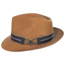 Cassatt Reversible Band Grade 8 Panama Straw Fedora Hat alternate view 4