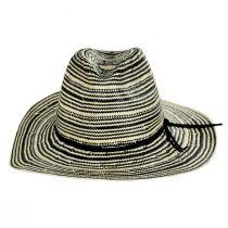Alessia 2Tone Toyo Straw Safari Fedora Hat alternate view 2