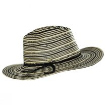 Alessia 2Tone Toyo Straw Safari Fedora Hat alternate view 3