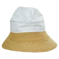 Racer Raffia Straw and Cotton Facesaver/Visor alternate view 7