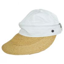 Racer Raffia Straw and Cotton Facesaver/Visor alternate view 8