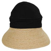 Racer Raffia Straw and Cotton Facesaver/Visor alternate view 2