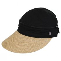 Racer Raffia Straw and Cotton Facesaver/Visor alternate view 3