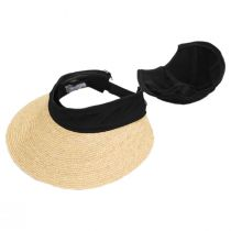Racer Raffia Straw and Cotton Facesaver/Visor alternate view 4