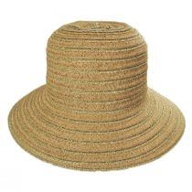 Madison Metallic Toyo Straw Cloche Hat alternate view 2