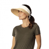 Racer Raffia Straw and Cotton Facesaver/Visor alternate view 10