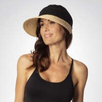 Racer Raffia Straw and Cotton Facesaver/Visor alternate view 5