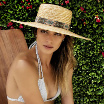 Bossa Milan Straw Boater Hat alternate view 5