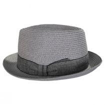 Luigi Gray Toyo Straw Fedora Hat alternate view 3