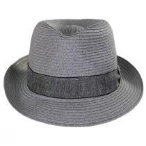 Luigi Gray Toyo Straw Fedora Hat alternate view 6