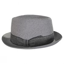 Luigi Gray Toyo Straw Fedora Hat alternate view 7