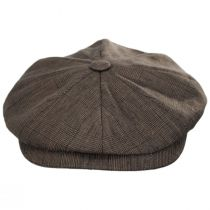 Manuel Brown Linen Plaid Newsboy Cap alternate view 2