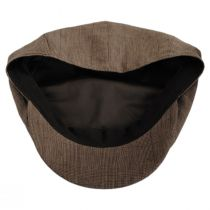 Manuel Brown Linen Plaid Newsboy Cap alternate view 4