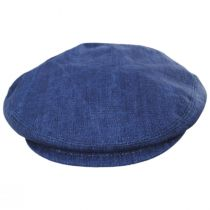 Mattia Denim Blue Linen Ivy Cap alternate view 10